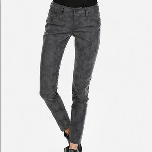 Express Faux Suede Ankle Jeans